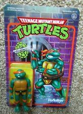 "Super7 Reaction Figures Teenage Mutant Mimja Turtles MICHANGELO 3.75"" NIP"