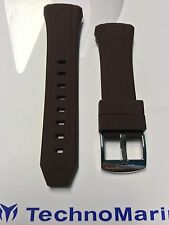 Authentic TechnoMarine Brown Silicone Strap Silver Buckle 40mm Cruise Watches