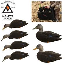 Axian-X 8077, TopFlight Full Body Black Duck Decoys 6 Pack w/ Decoy Bag Included