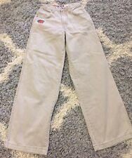 "Vintage 90's 1031 JNCO Girlie Stuff 22"" Bottom Opening Roomy Khaki Pants Size 3"
