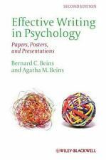 Beins and Beins (2012) Effective Writing in Psychology: Papers, Posters... NEW