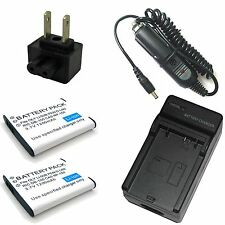 Charger + 2x Battery for Olympus Stylus Tough TG-850 iHS TG-860 Digital Camera