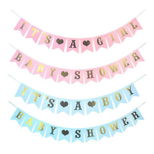 Baby Boys Girl Bunting Banner Photo Prop Baby Shower Party Garland Hanging Decor