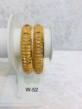 Pakistani Indian Gold Plated Bangles Perfect Party Wear Kangan Size 2.4 Bracelet
