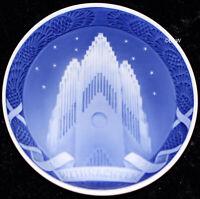 "ROYAL COPENHAGEN CHRISTMAS PLATE 1929 ""GRUNDTVIG CHURCH"" 1. QUALITY"