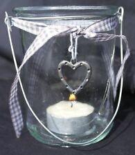 Deko-Kerzenständer & -Teelichthalter aus Glas mit Herz-Form fürs Wohnzimmer