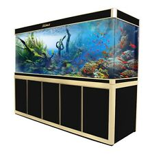 360 Gallon Ultra Clear Glass Large Fish Tank Aquarium with LED and Stand Bundle