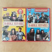 HORRIBLE HISTORIES SERIES 1 & 2 DVD BUNDLE 2-DISC SETS CBBC REGION 2 FREE P&P