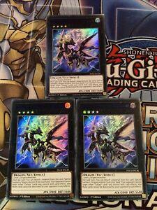 Yu-Gi-Oh 3x Blue Ultra Rare Galaxy Stealth Dragon 1st Edition DLCS-EN126 (NM)