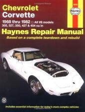 Haynes CHEVROLET CORVETTE (68-82) 305 327 350 Owners Repair Manual Handbook Book