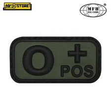 Patch in PVC 0+ MFH Verde/Nero 5cm x 2,5cm Militare Softair Soccorso con Velcro