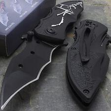 "7.75"" SPRING ASSISTED BATMAN DARK KNIGHT BLACK FOLDING TACTICAL KNIFE Pocket"