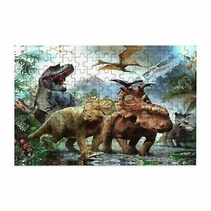 150 pcs Jurassic Dinosaur Wooden Jigsaw Puzzle for Kids DIY Game Educational Toy