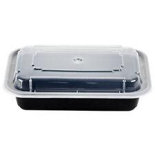 SafePro 16 Oz. Rectangular Microwaveable Containers Combo, Black Bottom, 150-Pie