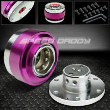 STEERING WHEEL SHORT 6-HOLE BALL BEARING QUICK RELEASE HUB ADAPTER KIT PURPLE