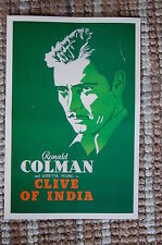 Clive of India Lobby Card Movie Poster Ronald Colman