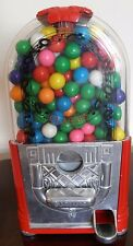 "Classic Jukebox Gumball Machine Bank With Gum Balls Included Red 9"" tall"