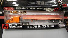 DCP#30166 SCHNEIDER TRANSPORT FREIGHTLINER SEMI TRUCK FLATBED TRAILER 1:64/IN