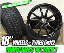 "18""' Mercedes Benz E C A S Class New C63 gloss black Style Alloy Wheels & Tyres"