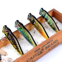 9.5cm 12g Popper Hard Tackle Minnow Fishing Lures Baits Hook Crankbaits