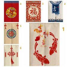 Chinese Door Curtains Japanese Tapestry Kitchen Doorway Room Divider Retro Decor
