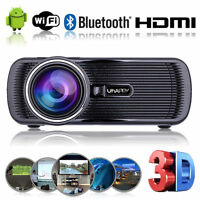 4000 Lumens Android 4.4 WIFI Heimkino Beamer USB VGA HD LED Theater Projektor #