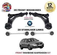 FOR VW PASSAT 2005-> FRONT 2 WISHBONE ARMS 2 STABILISER LINK BARS SUSPENSION KIT
