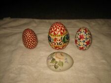 Set Of 4 Decorative Easter Eggs Assorted Sizes ��