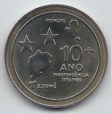 SAO TOME AND PRINCIPE 100 DOBRAS 1985 KM # 42 10th INDEPENDENCE ANNIVERSARY