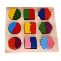 Puzzle Jouet Jeux Casse-tete Educatif en Bois pour Bebe Enfant L3X2