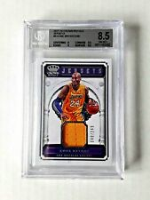 KOBE BRYANT 2017-18 PANINI CROWN ROYALE G. USED JERSEY #9 LAKERS BGS 8.5  /249