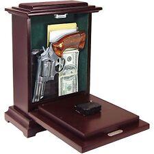 Gun Concealment Clock Concealed Safe Storage Wooden Hidden Fits Medium Large New