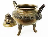 Cina Antico Brucia Essenze IN Bronzo ;d Ecor Di Chimaera Cinese