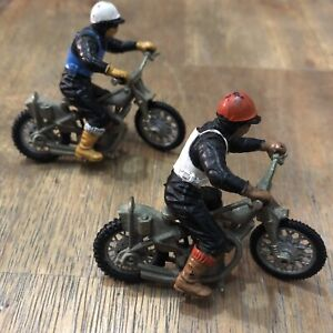 Vintage 1970's BRITAINS Speedway Racers Motorcycles/Riders x 2 - Made in England