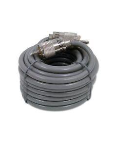 18ft LOW LOSS 98% Astatic Super Shield Rg8x Coax Jumper Cable Pl259 Cb ham Radio