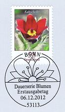 BRD 2012: la kuhschelle nº 2968 con el bonner primero etiquetas-sello especial! 1a 1510