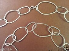 "SILPADA ""BUBBLE UP""  STERLING SILVER LINKED NECKLACE 38 INCHES N2148"