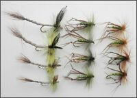 Hopper Trout Flies, 12 Pack 3 Varieties in Olive Mixed 10/12, For Fly Fishing