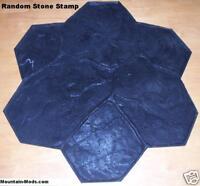 Random Stone/Rock Decorative Concrete Cement Imprint Texture Stamp Mat Floppy