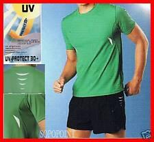 Herren  Running Laufshirt mit UV Schutz  grün  Gr.M