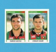 PANINI CALCIATORI 1998/99-Figurina n.590-MICCOLI+GRABBI-TERNANA-NEW
