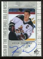 1998-99 SP Authentic Sign of the Times KT Keith Tkachuk Auto