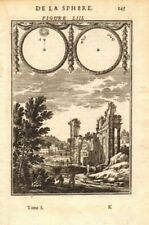 ASTRONOMY. Solar eclipses according to A. Thales & B. Heraclitus. MALLET 1683