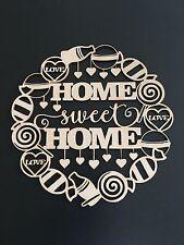 MDF Home Sweet Home Plaque Craft DIY Love