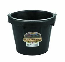 Little Giant All Purpose Rubber Bucket Crush Crack & Freeze Proof 8 Quart