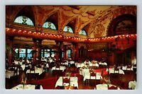St Augustine FL, Dining Room, Flagler College, Chrome Florida Postcard