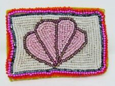 Beaded Wallet Card Holder Leather Credit Debit