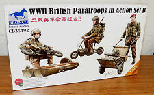 BRONCO WWII British Paratroops in Action Set B  D-Day model kit 1/35