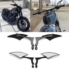 Motorcycle Side Mirror 8 10mm Black Blade For Honda Fury Yamaha Virago Bobber MT