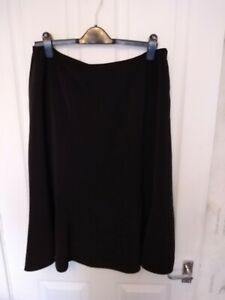 BNWT LADIES JACQUES VERT BLACK LINED A LINE SKIRT SIZE 16